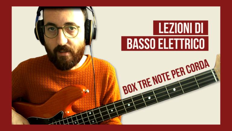 Box 3 note per corda scala maggiore